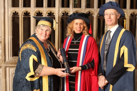 Sue Illman recognised by University of Gloucestershire