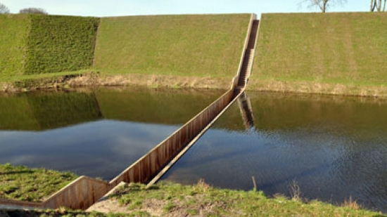 The 'Moses bridge' in the Netherlands