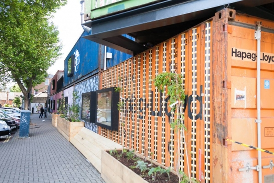 Urban farm and tea garden form part of south London container project
