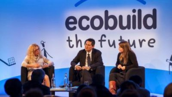 Sue Illman discussing water-sensitive design with Celeste Morgan of AECOM and Tony Wong of the Cooperative Research Centre for Water Sensitive Cities