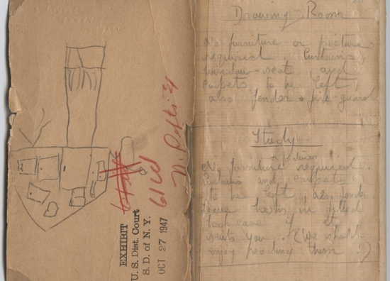 Daphne du Maurier's 'Rebecca' notebook. Image courtesy of the British Library