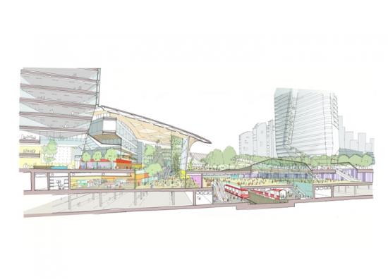 BDP's Zhengdong Transit Hub Masterplan